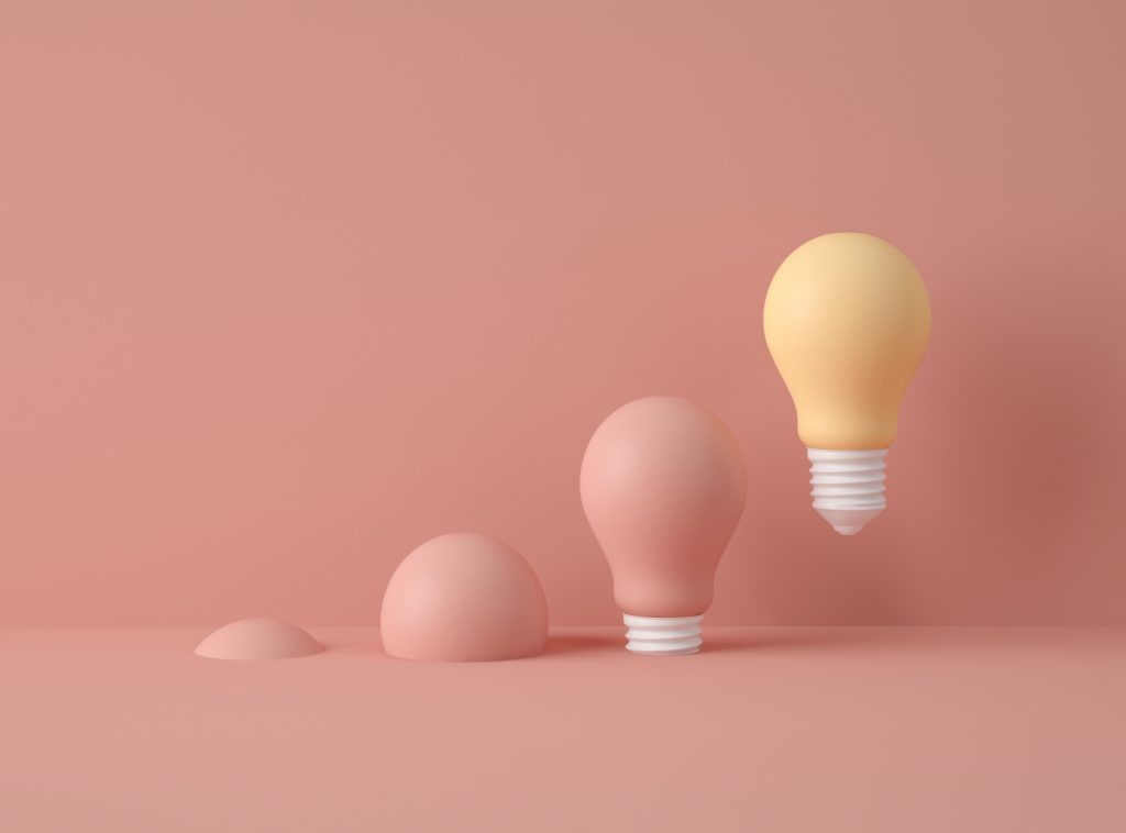 -row-light-bulbs-with-one-different-colour