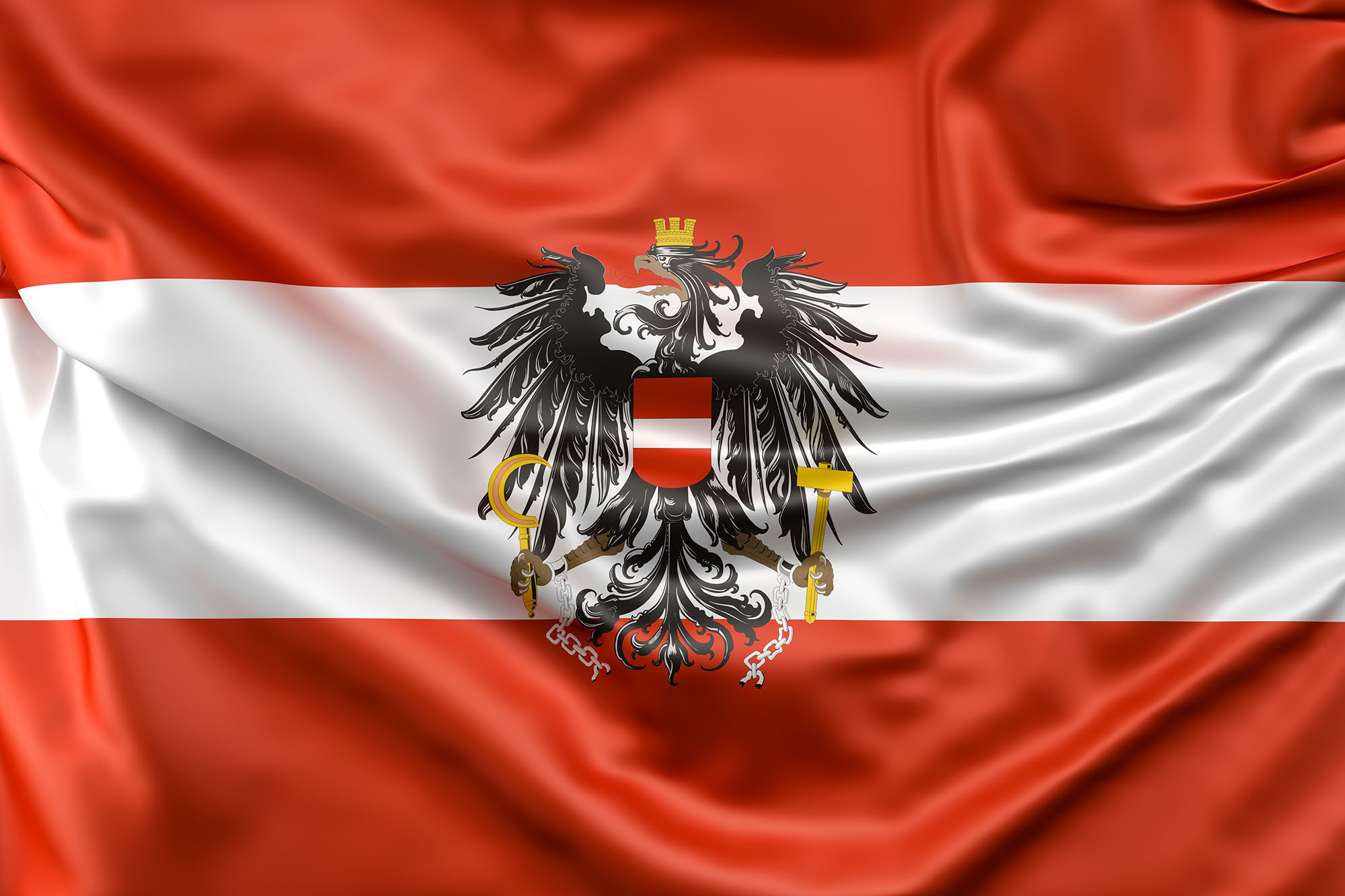 Flag of Austria with ensign